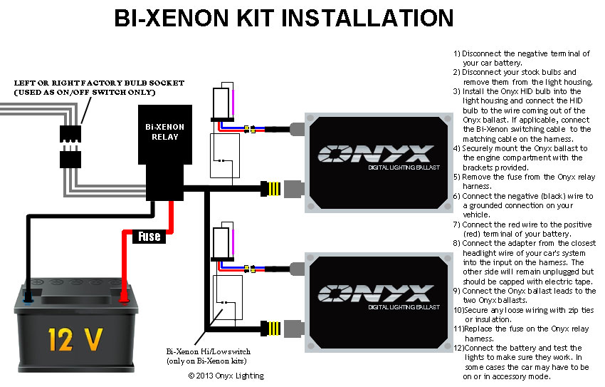 onyx install hid kit bi xenon bi xenon hid conversion kit installation guide onyx performance xenon hid relay wiring harness at webbmarketing.co