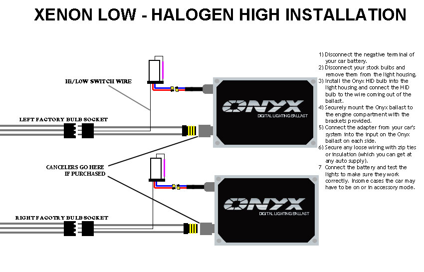 onyx install hid kit xenon low halogen high hi lo hid conversion kit installation guide xenon lo beam xenon hid wiring diagram at eliteediting.co